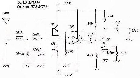 Simple Fm Radio Receiver Circuit also Radyo vericileri furthermore Infrared Remote Controller Project By also Simple Am Radio Receiver Circuit moreover Crystal Radio Schematic Diagram. on am transmitter circuit
