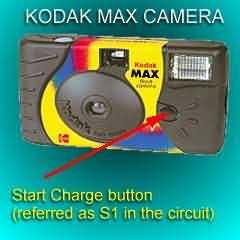 1 5 volt strobo with a kodak max disposable camera