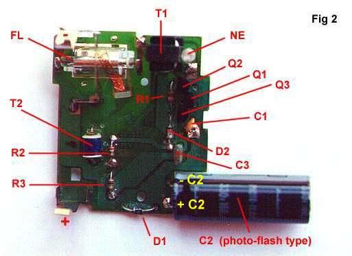 1.5 Volt Strobo with a Kodak Max Disposable Camerape2bz.philpem.me.uk